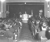 大学の入学式で式辞を読む藏五郎(1962年)